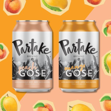 Partake Brewing Releases Non-Alcoholic Peach Gose and Mango Gose