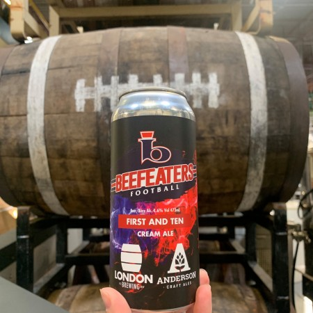 London Brewing and Anderson Craft Ales Release First & Ten Cream Ale with London Beefeaters Football