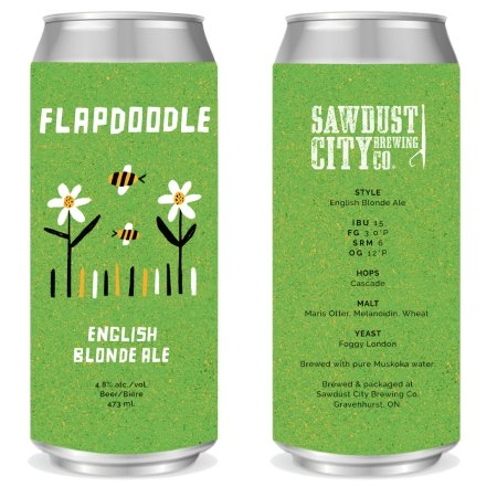Sawdust City Brewing Releases Flapdoodle English Blonde Ale