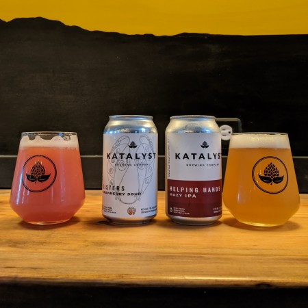 Katalyst Brewing Releases Sisters Cranberry Sour and Helping Hands Hazy IPA