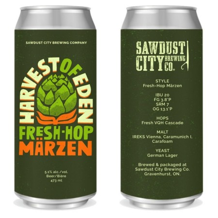 Sawdust City Brewing Releasing Harvest of Eden Fresh Hop Märzen