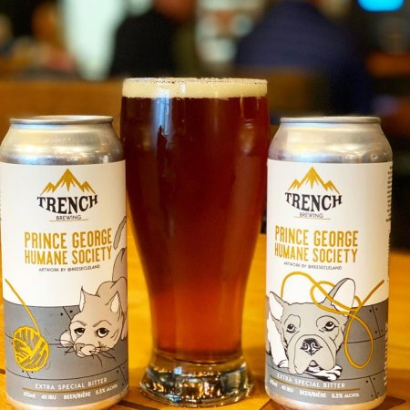 Trench Brewing Releases Charity Beer for Prince George Humane Society