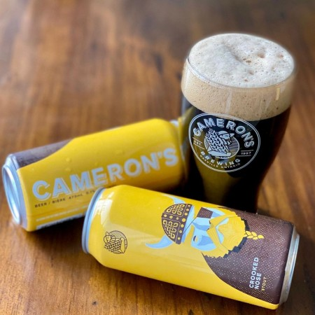 Cameron's Brewing Releases Crooked Nose Stout in Cans