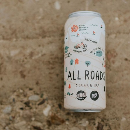 Grain & Grit Beer Co. and Clifford Brewing Release All Roads DIPA