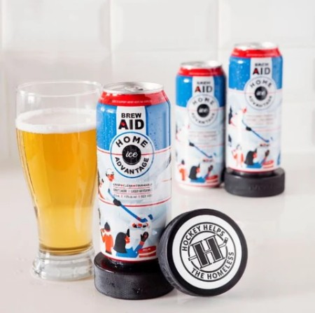 Old Tomorrow Brewing Launches Brew Aid Series with Home Ice Advantage Lager for Hockey Helps the Homeless