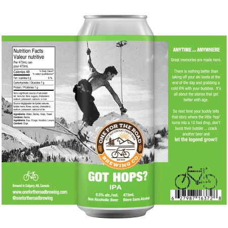 One For The Road Brewing Releases Proceed With Caution Amber and Got Hops? IPA