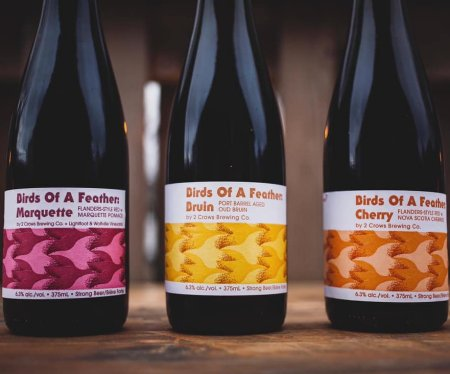 2 Crows Brewing Releases Birds of a Feather Belgian-Style Sour Series