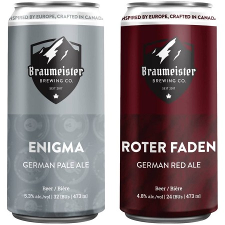 Braumeister Brewing Releases Enigma Pale Ale and Roter Faden Red Ale