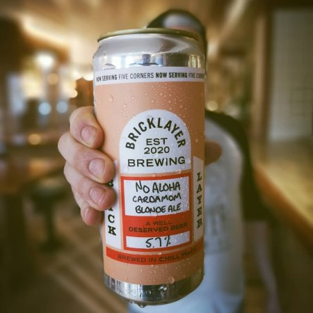 Bricklayer Brewing Releases No Aloha Cardamom Hazy Blonde Ale