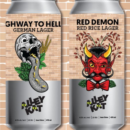 Alley Kat Brewery Back Alley Brews Series Continues with Highway to Helles German Lager and Red Demon Red Rice Lager