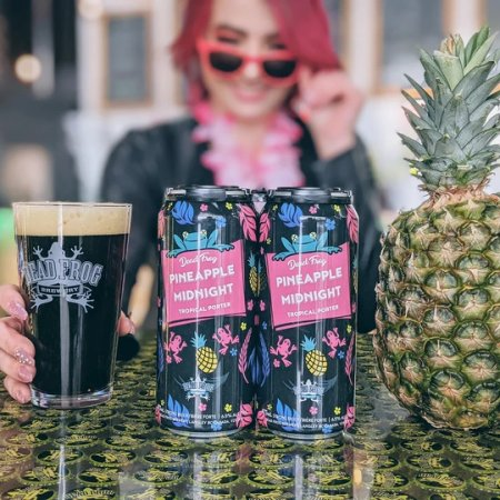 Dead Frog Brewery Brings Back Pineapple Midnight Tropical Porter