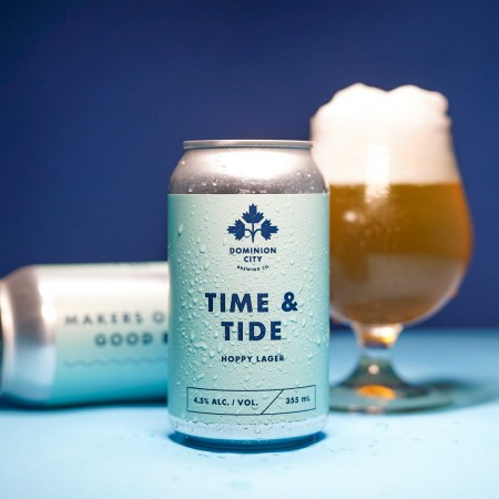 Dominion City Brewing Releases Time & Tide Hoppy Lager