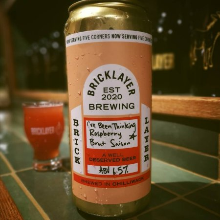 Bricklayer Brewing Releases I've Been Thinking Raspberry Brut Saison