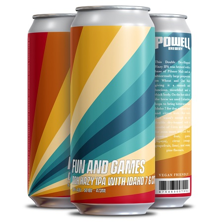 Powell Brewery Releasing Fun and Games DDH Hazy IPA