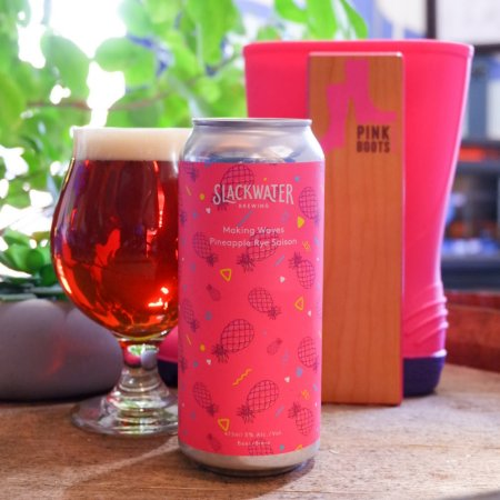 Slackwater Brewing Releases Making Waves Pineapple Rye Saison for Pink Boots Society