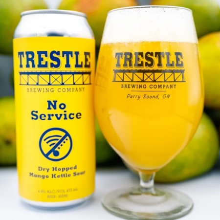 Trestle Brewing No Service Dry Hopped Mango Kettle Sour Now at LCBO