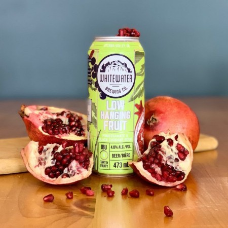 Whitewater Brewing Releases Low Hanging Fruit Pomegranate & Black Currant Sour
