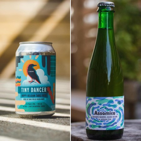2 Crows Brewing Releases Tiny Dancer Belgian Table Beer and Assamica Barrel-Aged Sour