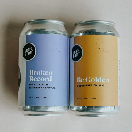 Grain & Grit Beer Co. Releases Broken Record Pale Ale with Raspberry & Guava and Be Golden Dry-Hopped Kölsch