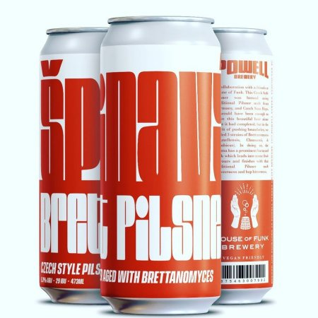Powell Brewery and House of Funk Brewing Release Špinavý Brett Pilsner