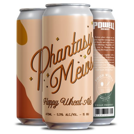 Powell Brewery and Four Winds Brewing Release Phantasy Mews Hoppy Wheat Ale