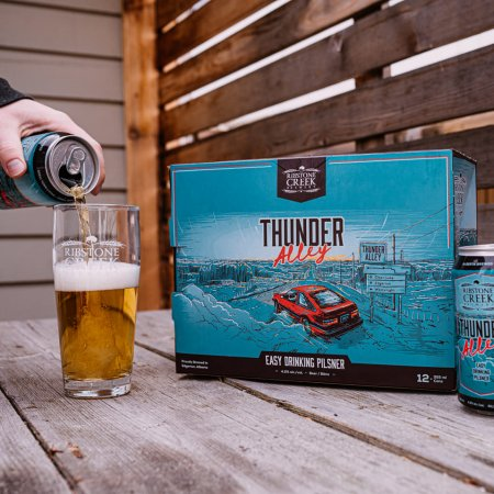 Ribstone Creek Brewery Releases Thunder Alley Pilsner and Great White Combine White IPA