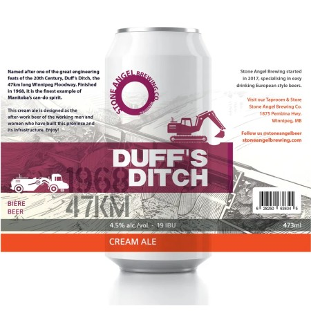 Stone Angel Brewing Releases Duff's Ditch Cream Ale