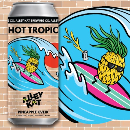 Alley Kat Brewing Back Alley Brews Series Continues with Hot Tropic Pineapple Kveik