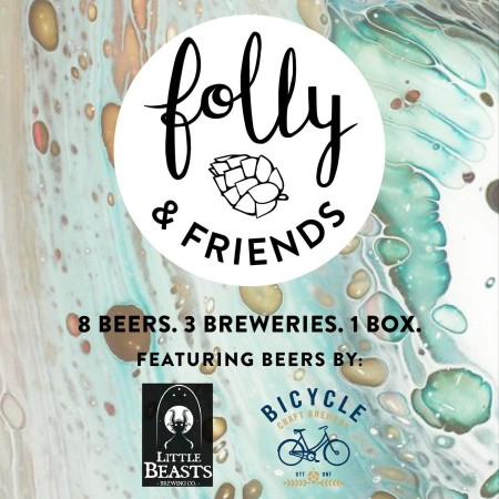 Folly Brewing Releases Folly & Friends Edition #3 Box with Little Beasts Brewing and Bicycle Craft Brewing