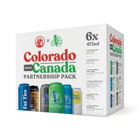 Steam Whistle Brewing and New Belgium Brewing Release Colorado Meets Canada Partnership Pack