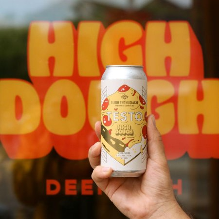 Blind Enthusiasm Brewing and High Dough Pizza Release Těsto Lager