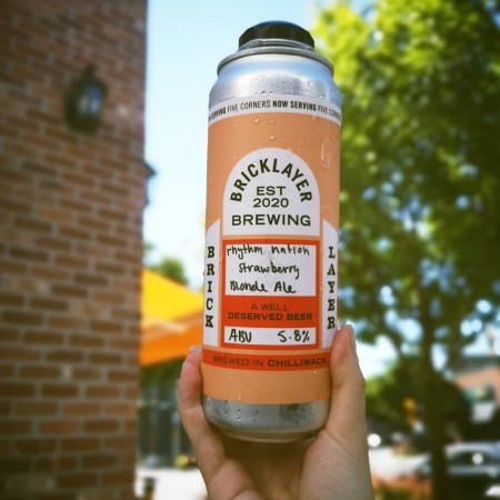 Bricklayer Brewing Releases Rhythm Nation Strawberry Hazy Blonde Ale