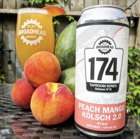 Broadhead Brewery 174 Taproom Series Continues with Peach Mango Kolsch 2.0