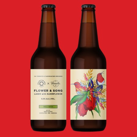 Collective Arts Brewing and Fairweather Brewing Release Flower & Song Lager with Elderflower