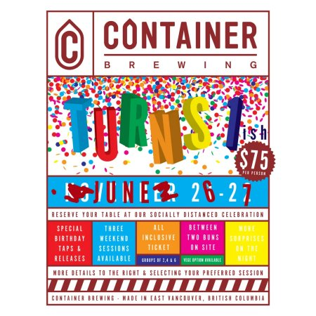 Container Brewing Holding 1.6th Birthday Party Next Weekend