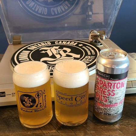 Forked River Brewing and Speed City Records Release Sparton Press Pils
