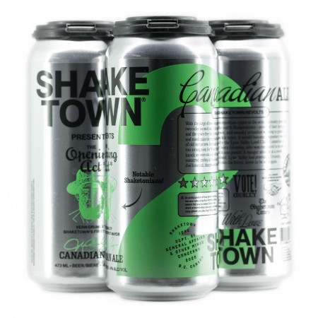 Shaketown Brewing Opening Act Series Continues with Canadian Ale