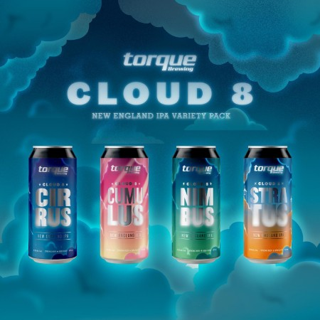 Torque Brewing Releases Cloud 8 NEIPA Variety Pack