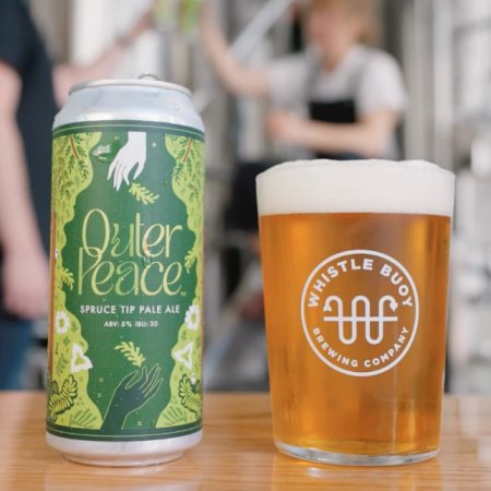 Whistle Buoy Brewing and Arc'teryx Victoria Release Outer Peace Spruce Tip Pale Ale