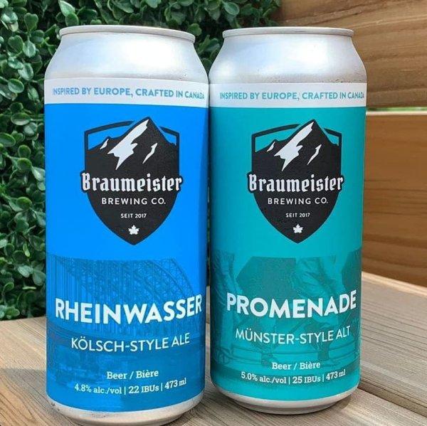 Braumeister Brewing Brings Back Rheinwasser Kölsch and Promenade Alt