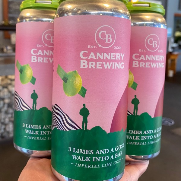 Cannery Brewing Releases 3 Limes and a Gose Walk Into a Bar Imperial Lime Gose