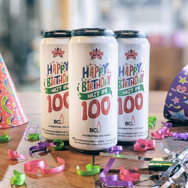 Dead Frog Brewery Releases Happy Birthday Hazy IPA for 100th Anniversary of BC Liquor Stores