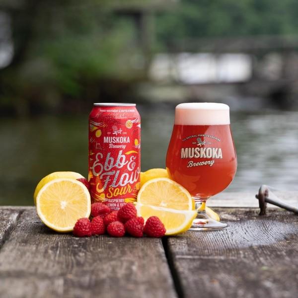 Muskoka Brewery Releases Ebb & Flow Sour with Raspberry, Lemon & Yuzu