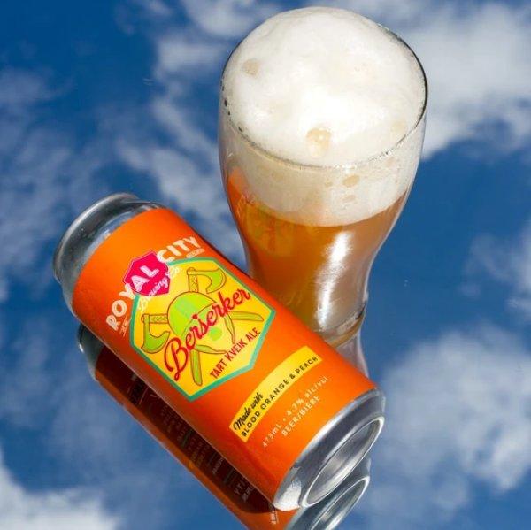 Royal City Brewing Releases Blood Orange & Peach Berserker Tart Kveik Ale