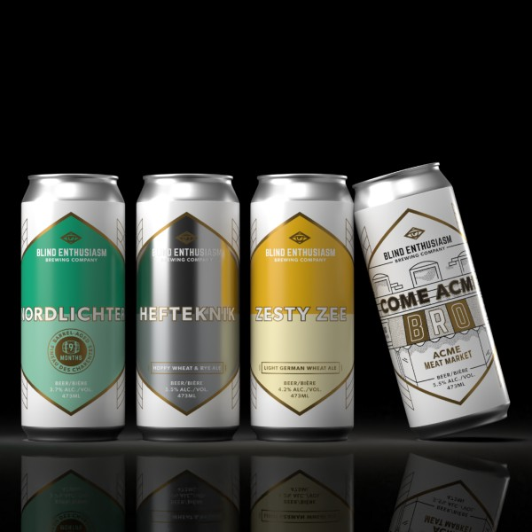 Blind Enthusiasm Brewing Releases Quartet of Cans