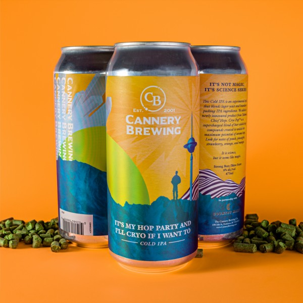 Cannery Brewing Releases It's My Hop Party and I'll Cryo If I Want To IPA