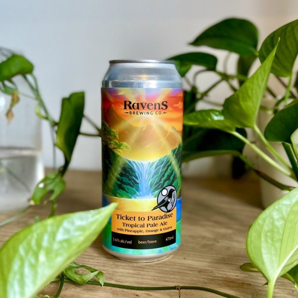 Ravens Brewing Releases Ticket to Paradise Tropical Pale Ale