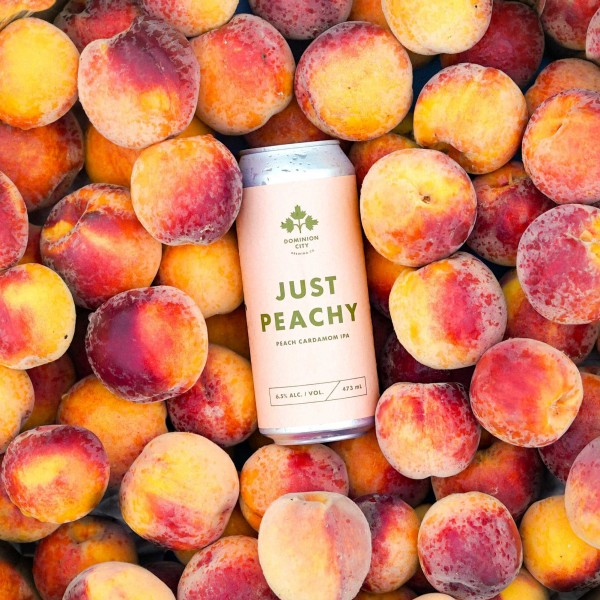 Dominion City Brewing and Collective Arts Brewing Release Just Peachy Peach Cardamom IPA