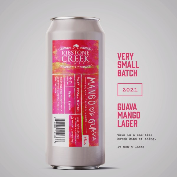 Ribstone Creek Brewery Releases Mango ♥'s Guava Lager