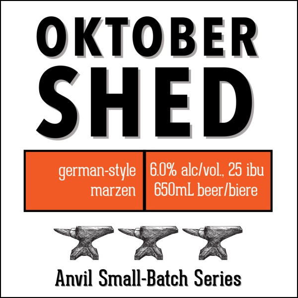 Shawn & Ed Brewing Anvil Small-Batch Series Continues with OktoberShed German-Style Märzen